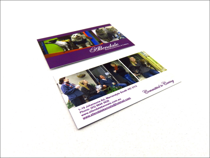 © Suzanne Day 2016 / Allendale Kennels / Business Cards