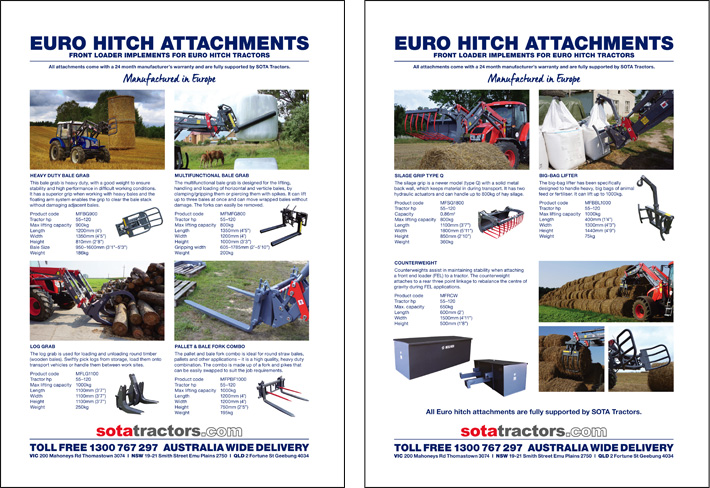 © Suzanne Day 2017 / Sota Tractors / Euro Hitch Flyer